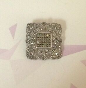 OUTSTANDING ORNATE VINTAGE STERLING SILVER BROOCH - THAILAND