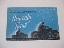 1948 Ariel Motorcycle Brochure / Heavenly Twins - Red Hunter & De Luxe / RARE!