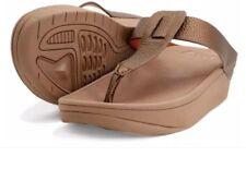 Khoee Sunnie Women's Toe Thong Flip flops Sandals (BRONZE)  SIZE 38