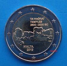 2 € Euro Gedenkmünze 2019 Malta Ta´Hagrat Abart Münzzeichen F unc aus Rolle neu