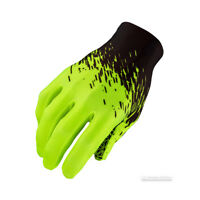 Supacaz SupaG LONG Full Finger Cycling Gloves : BLACK/NEON YELLOW