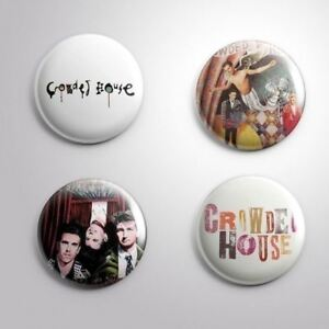 4 CROWED HOUSE -  Pinbacks Badge Button 25mm 1''..