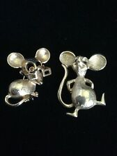 Two Cute Estate Mouse Pins Signed Avon Dynasty