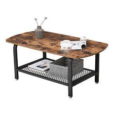 VASAGLE Table basse vintage Table d'appoint Table de salon Armature Fer LCT10X