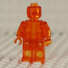 NEW Blank Transparent Orange Minifigure Compatible with Lego