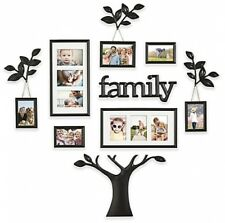 Family Tree Wall Collage Frame Set 12 Pc Photo Picture Art Decoration Home Black