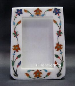 07 x 05 Inches Marble Table Master Piece Stone Photo Frame with Ancient Art