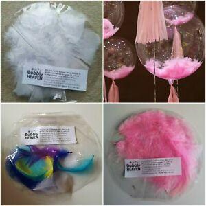 Feather FILLED STUFFED Bubble Balloon Clear Birthday Decor Baby Girl Boy Wedding