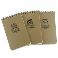 Rite In The Rain Top Spiral Notebook 3 X 5 Tan Brown All Weather 3 Pack