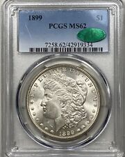 1899 Morgan Silver Dollar $1 PCGS MS 62 CAC Approved!