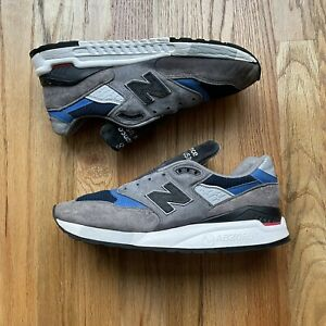 Men's New Balance NB 998 Grey Gray Blue Made In The USA Fishing Sz 8.5 (M998NF)