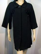 $600 NWT IN LOVE by CARLING Fan Pleated Black Zip Slv Dress Car Coat France T3 M