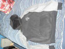 unisex black / grey hoodie medium