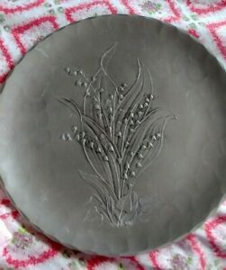 """APP 10"""" WENDELL AUGUST FORGE ALUMINUM PLATE @ LILY OF THE VALLEY"""