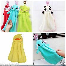 Nursery Hand Towel Soft Plush Fabric Cartoon Animal Hanging Wipe Towel 1pcs