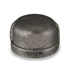 """2"""" BLACK MALLEABLE IRON PIPE FITTINGS CAP - P6659"""