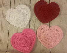 Handmade Crochet Heart Shaped Coaster / Decorations