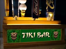 TIKI BAR BEER Tap handle display HOLDS 7 TAPS ON 2 ROWS BRIGHT LED BAR SIGN