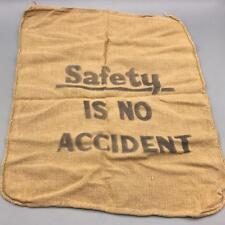 Vintage Safety Is No Accident Work Towel Edgar Thomson USS Plant Pittsburgh
