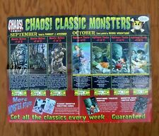 CHAOS! Comics Classic Monsters Promotional Poster 1997 Promo