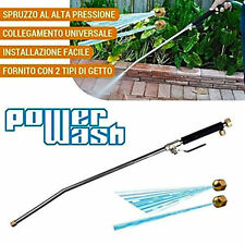 High Pressure Car Washer Spray Nozzle + Water Jet Gun Hose Wand Attachment