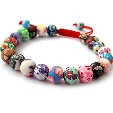 Fimo Polymer Clay Beads Buddhist Prayer Wrist Mala Bracelet
