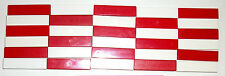 LEGO 30 Red White 1x4 Finishing Tiles Glossy Plates 2431 Smooth Detail Part lot