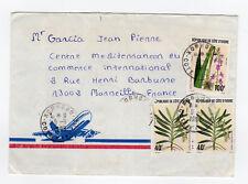 CÔTE D'IVOIRE 3 timbres sur lettre tampon 1996 Korhogo /L892