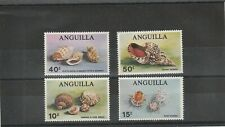 Anguilla  1969 Mussels & Marine Snails Set of 4 Values Mint Hinged  scan 1210