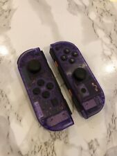 Nintendo Switch Custom Joy Con Atomic Purple Transparent Clear Controller