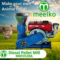 PELLET MILL 8 HP DIESEL ENGINE MIAMI USA SHIPPING (3mm middle sized birds)
