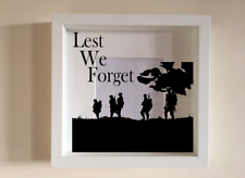 IKEA RIBBA Box Frame Personalised Vinyl Wall Art Quote Lest We Forget