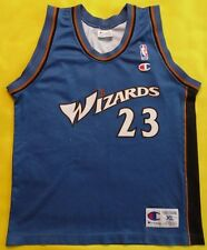 3/5  WASHINGTON WIZARDS NBA BASKETBALL SHIRT JERSEY CHAMPION #23 MICHAEL JORDAN