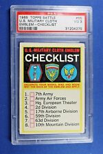 1965 Topps Battle Cards - #65 Military Cloth Emblem Checklist  - PSA 3 VG