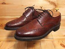 Barker Grassington Brown Leather Brogues UK 9.5 F Grain Leather Dainite