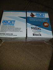2 premium replacement ink jet cartridges 950XL  CNO45AN Black