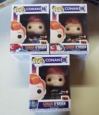 Funko Pop! TBS Conan O'Brien Complete Set #18-20 All Boxes Near Mint