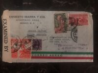 1942 Mexico City Mexico Censored Special Delivery Cover to New York Usa