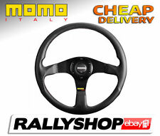 Momo TUNER BLACK Steering Wheel CHEAP DELIVERY WORLDWIDE race rally Ø 350 mm