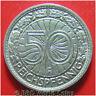 GERMANY WEIMAR 1928-F 50 REICHSPFENNIG STUTTGART MINT GERMAN COIN NICKEL 21mm
