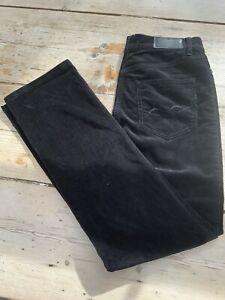 Women's Black Needle Cord Jeans style trousers By Gardeur size 10uk