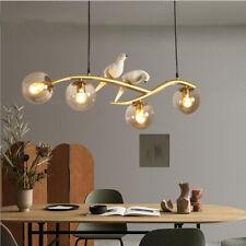 Creative Bird 6-Light Chandelier Metal Tree Branch Home Lighting Ceiling Fixture