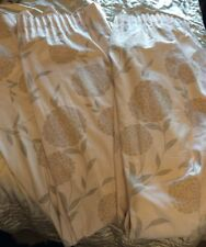 Laura Ashley Curtains - Large Erin duck egg/natural 72x64wide Ready Made LineVgc