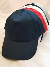 MEN'S LADIES 5 PANEL BASEBALL CAP WITH BUCKLE ADJUSTER SUN HAT CAP