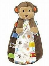Taggies Brown Monkey Security Blanket Lovey Baby Toy Rattle Stars Plush