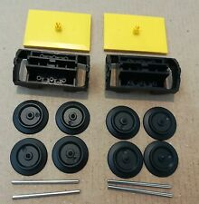LEGO Train Carriage Wheels Complete Assembly x 4 With 2 x Bogie Bogey NEW
