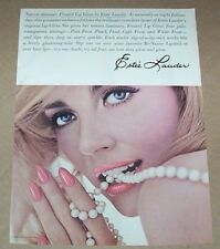 1965 print ad - Estee Lauder Cosmetics SEXY GIRL lip gloss pearls advertising