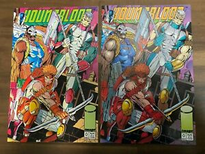 Youngblood #0 Lot Of 2 Variants PINK PURPLE COVERS (Image 1992) Rob Liefeld NM
