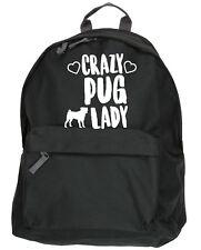 Crazy pug lady  kit bag backpack ruck sack dog puppy school