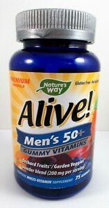 Nature's Way Alive! Men's 50+ Multi-Vitamin Premium Formula - 75 Gummies